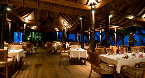 The Aquarium Restaurant At Maca Bana - lobster in the Caribbean