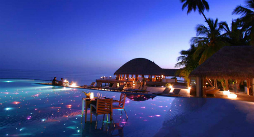 Magical Evening Dining At Huvafen Fushi