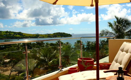 Penthouse View At Bequia Beach Hotel - sailing in the Caribbean