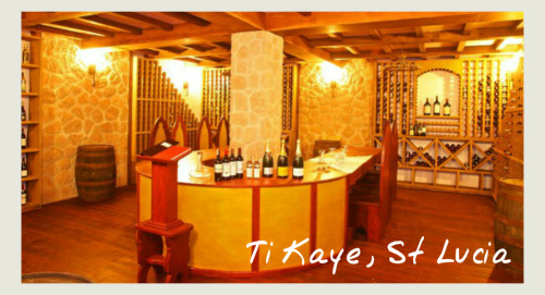 The Wine Cellar At Ti Kaye, St Lucia - food and wine holidays