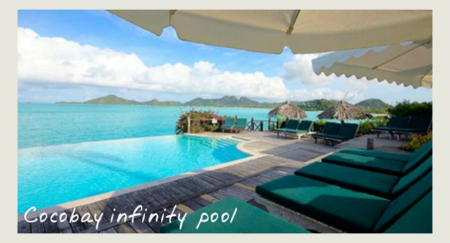 The infinity pool at Cocobay, boutique hotels in Antigua