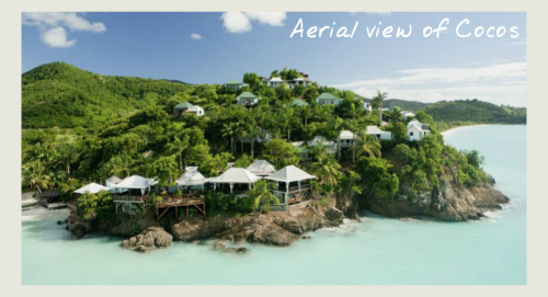 Aerial view of Cocos, boutique hotels in Antigua