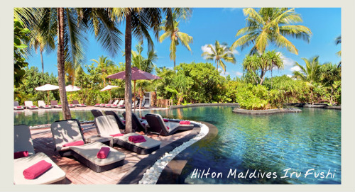 Pool At HIlton Maldives Iru Fushi