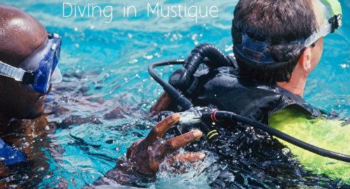 Diving in Mustique