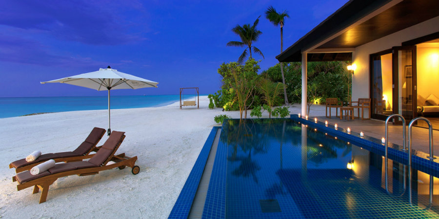 Atmosphere Kanifushi Sunset Pool Villa Pool 900 450 - Tropic Breeze