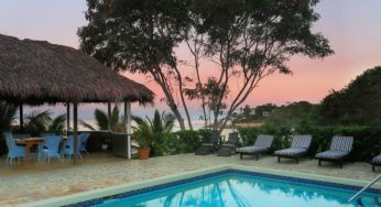 A perfect pink sunset from the calabash bay villa at Jakes, Jamaica