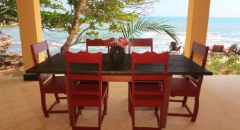 Dining with beautiful views at Jakes, Jamaica