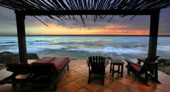 Beautiful views from a terrace at dusk at Jakes, Jamaica -  1