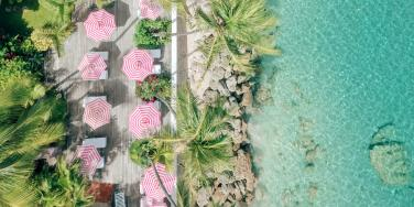 Pool Deck Aerial View, Cobblers Cove, Barbados