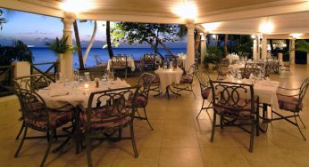 Dining in the evening at Settlers Beach, Barbados